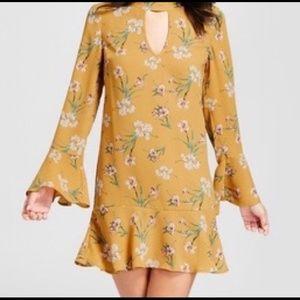 Fun flirty bell sleeve dress
